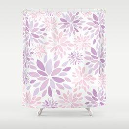 Nature's Healing Mandala Pastel Pink Shower Curtain