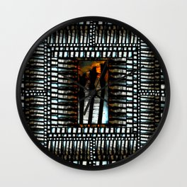 Descendants Embrace I Rest : dedicated to Keaton CaptBrownbeard Farris. The Human Tribe series  Wall Clock