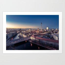 Golden Berlin Art Print