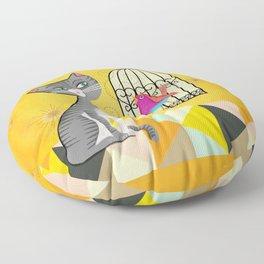 Cat Bird Seat Floor Pillow