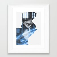 david tennant Framed Art Prints featuring Tennant by Envide