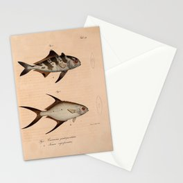 Vintage Print - Atlas of a Journey in North Africa (1828) - Black-Banded Trevally Stationery Cards