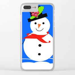 happy snowman Clear iPhone Case