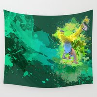 hiphop Wall Tapestries featuring HipHop Forever by Frauste