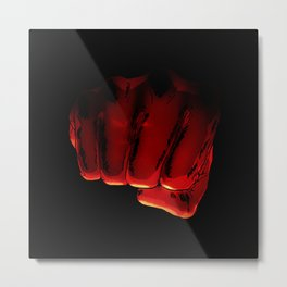 One Punch Fist Metal Print
