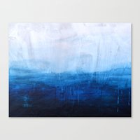 ombre Canvas Prints featuring All good things are wild and free - Ocean Ombre Painting by Prelude Posters
