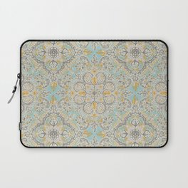 Gypsy Floral in Soft Neutrals, Grey & Yellow on Sage Laptop Sleeve
