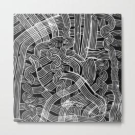Fork Waves Metal Print