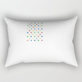 American Flag Autism Awareness Day Autistic Gift Rectangular Pillow