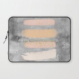 Pastel Stripes on Concrete Laptop Sleeve