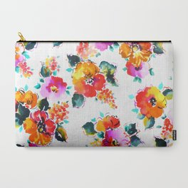 Hand-Painted Watercolor Carry-All Pouch