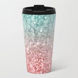 Summer Vibes Glitter #2 #coral #mint #shiny #decor #society6 Travel Mug