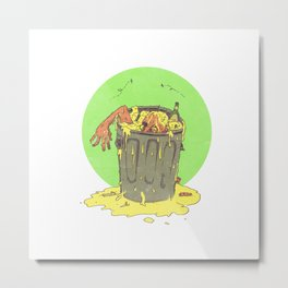 Scum Bucket Metal Print
