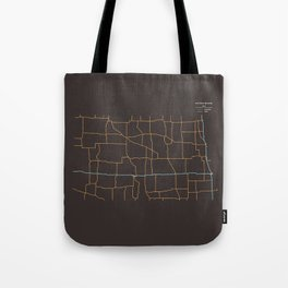 North Dakota Highways Tote Bag