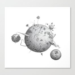 Post Human Planets Canvas Print