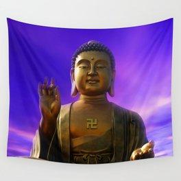 Buddha Blue Dawn Wall Tapestry