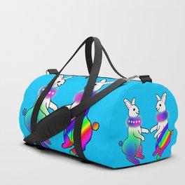 Rainbow Rabbit Duffle Bag