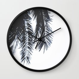 Palm Tree leaves abstract Wall Clock