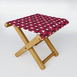 Geometric Pattern #257 (red boxes) Folding Stool