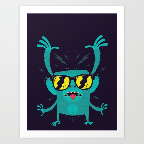 Cool monkey! Art Print