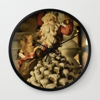 santa Wall Clocks featuring Santa by Cindy Munroe Photography