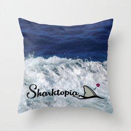 Official Sharktopia Logo Throw Pillow