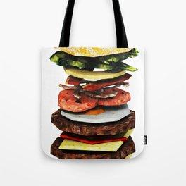 Graphic Burger Tote Bag