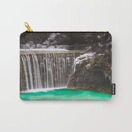 Waterfall stunning turquoise water lake Jasna, Slovenia Carry-All Pouch