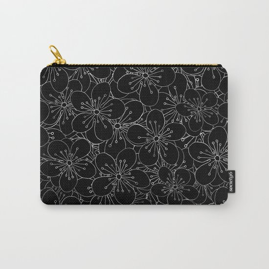 Cherry Blossom Black on White - In Memory of Mackenzie Carry-All Pouch