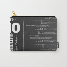 The 10 Commandments for Graphic Designers Carry-All Pouch