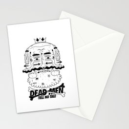 dead men tell no tale Stationery Cards