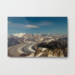 ALASKA I: Ruth Glacier beneath Denali ~ The Great One ~ Mt. McKinley Metal Print