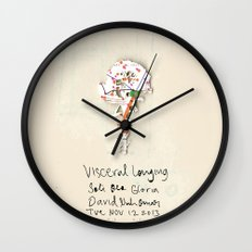 Visceral Longing  Wall Clock