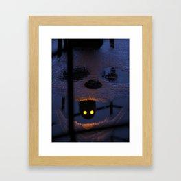 Dark Skull Puddle CGI Compute Art Design Framed Art Print