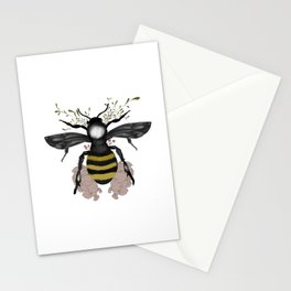 The bee is here Stationery Cards