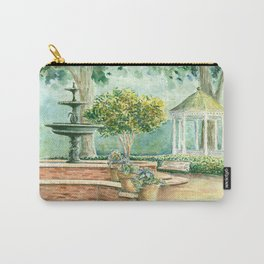 Fountain at the Square Watercolor Carry-All Pouch