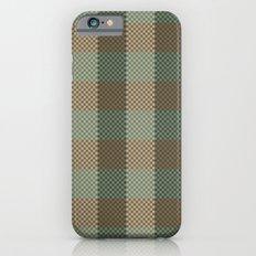 Pixel Plaid - Birch Forest Slim Case iPhone 6s