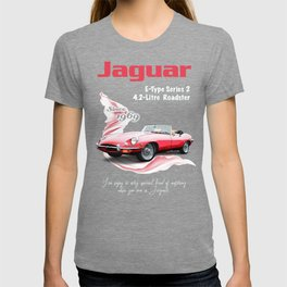1969 Jaguar E-Type Series 2_Classic Red T-shirt