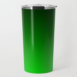 Black and Lime Gradient Travel Mug