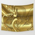 Magical Kokopelli in Gold by culturalperspective