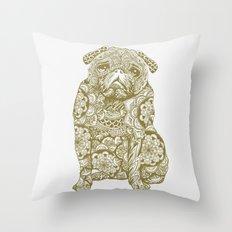 Mandala Pug Throw Pillow
