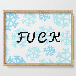 FUCK Snowflakes Pattern Serving Tray