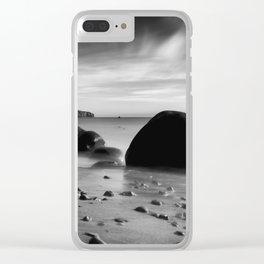 Hidden Bowling Ball Beach Northern California Clear iPhone Case