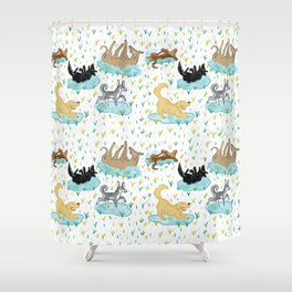 Puppies and Puddles Shower Curtain