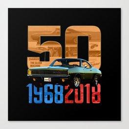 1968 Dodge Charger R/T - Happy Anniversary Canvas Print