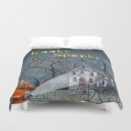 Marvin in the Kooky Spooky House Duvet Cover