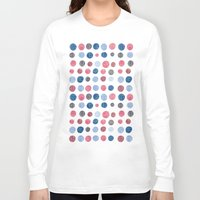 polka dots Long Sleeve T-shirts featuring polka dots by Asja Boros Designs