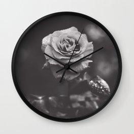 Dark rose Wall Clock