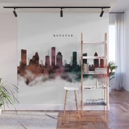 Houston Watercolor Skyline Wall Mural