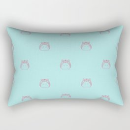 Cute Hamster Pattern Illustration Rectangular Pillow